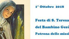 1 ottobre: Santa Teresa del Bambin Gesù